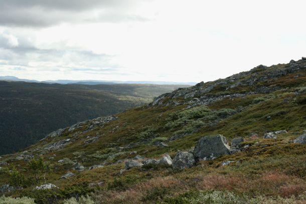 the lines of the mountain-Geilo-Norway